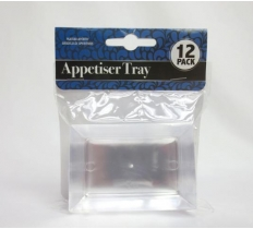 APPETISER RECTANGLE TRAY MINI 12 PACK