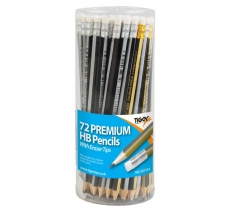 HB Pencils with Eraser Tip Assorted In A Tub x 72 (9p Each)