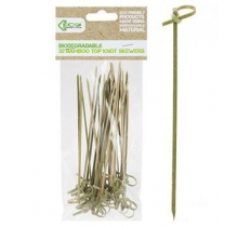 ECO CONNECTION 30PACK 15CM TOP KNOT BAMBOO SKEWER