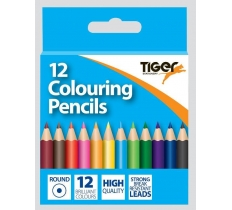 TIGER HALF LENGTH COLOURING PENCILS 12 PACK