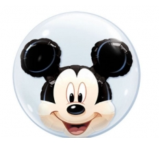 "QUALATEX 24"" DOUBLE BUBBLE MICKEY MOUSE"
