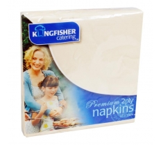 CREAM 2 PLY PAPER NAPKINS 33CM X 33CM 25 PACK