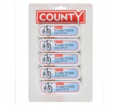 COUNTY BIKE PUNCTURE REPAIR KIT x 5 ( 65p EACH )