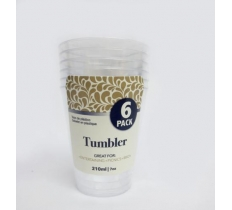 TUMBLER MINI 210ML CLEAR 6PK