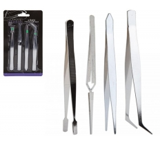 ASSORTED TWEEZER SET 4 PIECE