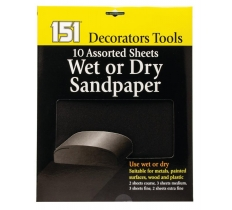 WET & DRY SANDPAPER 10 PACK