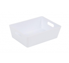 WHAM STUDIO BASKET RECTANGULAR ICE WHITE