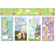 EASTER MONEY WALLETS 4 PACK