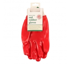 HEAVY DUTY GARDEN RED RUBBER GLOVE