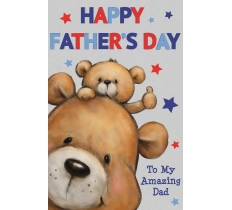 FATHERS DAY CUTE BEAR JUMBO CARD