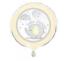 "18"" BABY SHOWER YELLOW FOIL BALLOON"