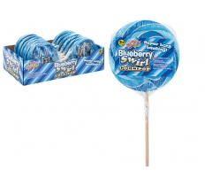 BLUEBERRY SWIRL CANDY LOLLY ON WOOD STICK