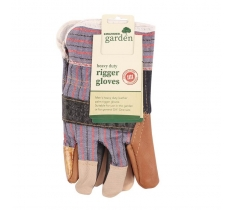 HEAVY DUTY GARDEN LEATHER PALM RIGGER GLOVES