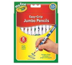 PACK OF 8 MY FIRST JUMBO PENCILS