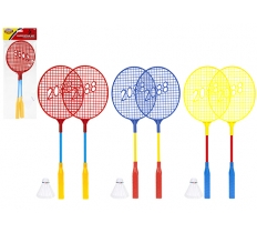 "BADMINTON SET 2 X 18"" RACQUETS AND SHUTTLECOCK"