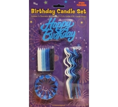 Happy Birthday Candles Blue