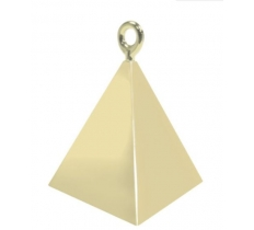 QUALATEX PYRAMID BALLOON WEIGHT SOFT GOLD