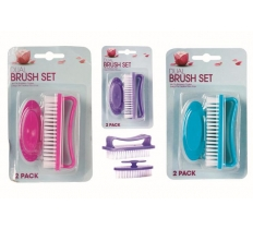 NAIL BRUSH 2PC SET