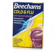 BEECHAMS COLD & FLU (Blackcurrant) 5 X 6
