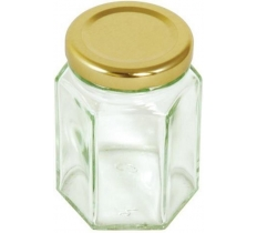 Tala Hexagonal Jar Gold Screw Lid 110ml/4oz