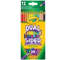CRAYOLA 12PACK DUAL COLOUR PENCILS