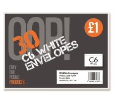 30 C6 White Envelopes