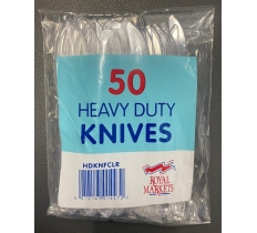 Heavy Duty Plastic Disposable Knives