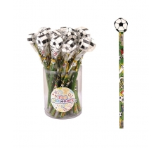 FOOTBALL PENCIL WITH ERASER TOP X 24
