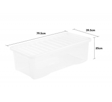 Crystal 62L Underbed Box and Lid