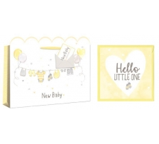 BABY SHOPPER BAG WITH CARD