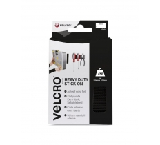 VELCOR BRAND HEAVY DUTY STICK ON STRIPS 50MM X 100MM BLACK