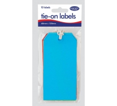 Tie on Labels - Coloured (10 Pack)
