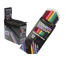 Adult Colour Therapy Colouring Sharpened Pencils 12 Pack