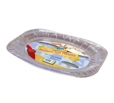 "14"" ( 36CM ) FOIL FOOD PLATTERS 2 PACK"