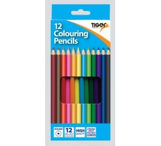 TIGER FULL LENGTH COLOURING PENCILS 12 PACK