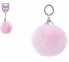 10CM FAUX FUR MUM IN A MILLION POM POM KEYRING