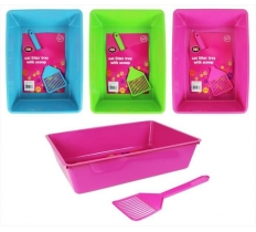 CAT LITTER TRAY 41 X 29 X 10cm with Scoop
