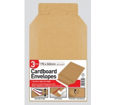 County 3 Cardboard Envelopes 170 x 245mm 170 x 245mm