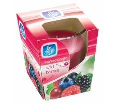 CLEAR GLASS CANDLE - WILD BERRIES