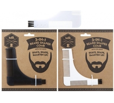 3-IN-1 BEARD SHAPER COMB AND BRUSH