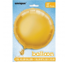 18'' ROUND GOLD FOIL BALLOON