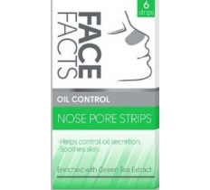 FACE FACTS NOSE PORE STRIPS OIL CONTROL GREEN TEA
