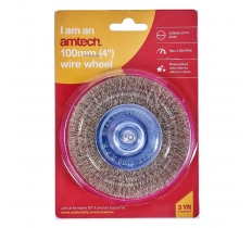 "AMTECH 4"" WIRE WHEEL"