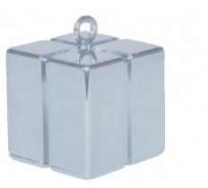 QUALATEX SILVER GIFT BOX BALLOON WEIGHT