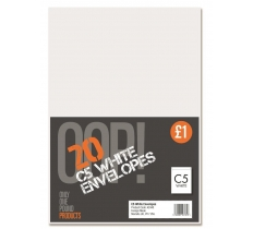 20 C5 White Envelopes