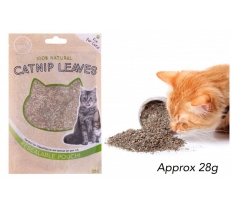 CATNIP LEAVES IN RESEALABLE POUCH 28G