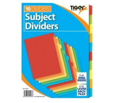 TIGER A4 10 PART CARD DIVIDERS