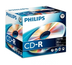 Philips CD-R 10 80min 700MB PACK (INCLUDING SLIM CASES)