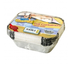 SMALL FOIL FOOD CONTAINERS WITH LIDS 12 PACK