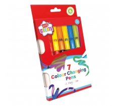 7 COLOUR CHANGING MARKERS